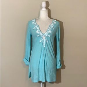 Lilly Pulitzer Aqua Blue Tunic / Tunic Dress Small